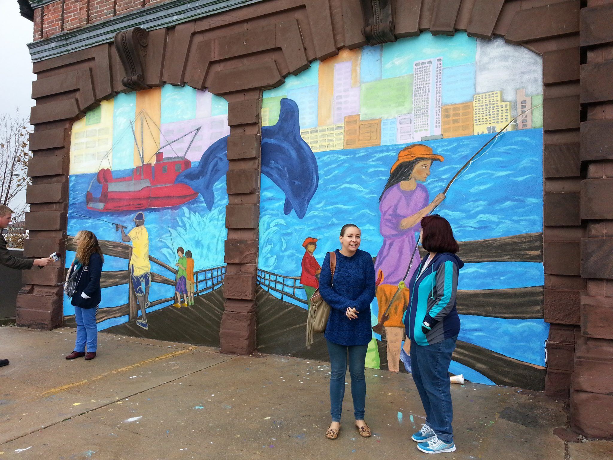 Mural Project with Stockton University at Atlantic City Fire House
