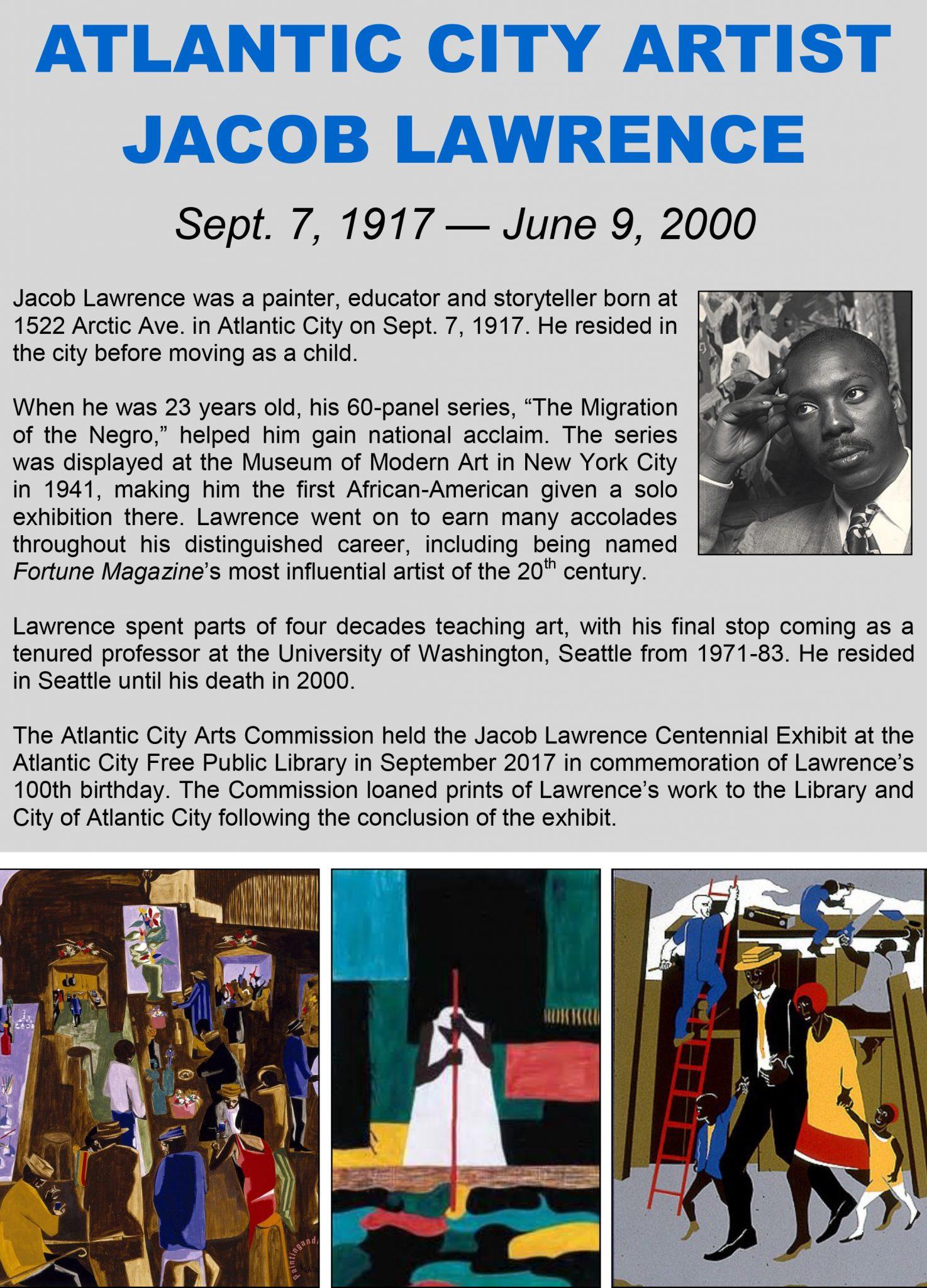 2017 Jacob Lawrence Centennial Exhibition