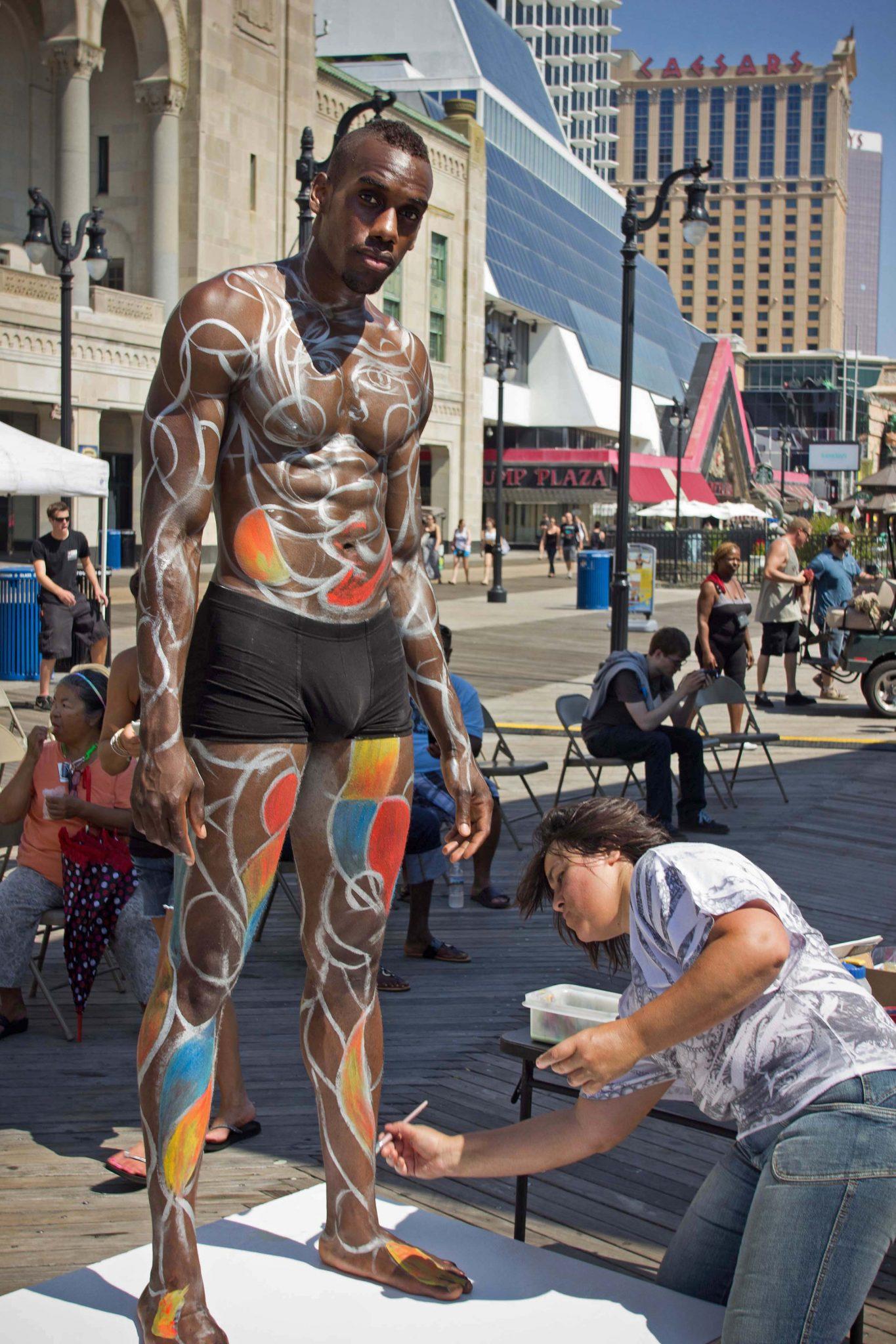 2014 Atlantic City Boardwalk Art Show - Body Artist Heather Deegan Hire
